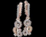 Серьги серебряные Юлия 41135, фото 2