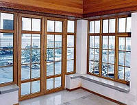 Окна и двери из евробруса в Украине