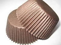 Форма для маффинов коричневые средние(код 00448)