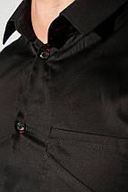 Рубашка мужская офисного стиля 3220-3 (Черный), фото 2