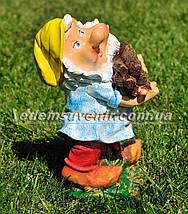 Садовая фигура Гном дровосек малый, фото 3