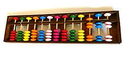 Счеты деревянные цветные  соробан абакус 13 рядов 25,2x6,5x1,7 см.