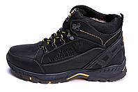 Мужские зимние кожаные ботинки Jack Wolfskin Black