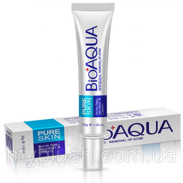 Концентрированный антибактериальный крем BIOAQUA Pure Skin против акне и воспалений. 30 грамм