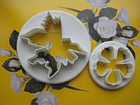 """Вырубка для мастики """"лист и цветок Розы"""" 2шт.(код 00405)"""