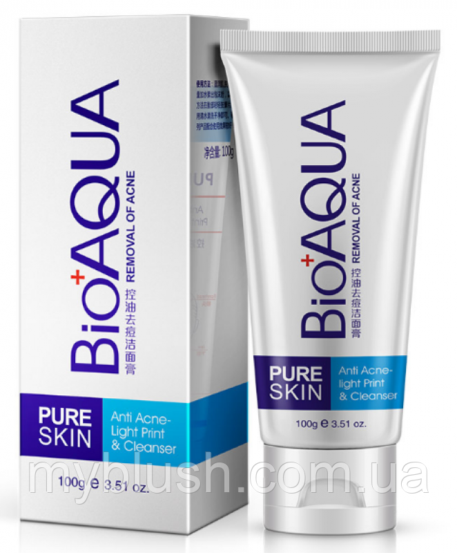 Пенка для умывания BioAqua Pure Skine для проблемной кожи, 100 гр