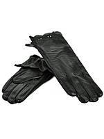 DM Перчатка Женская кожа F24-17/1 мод5 black флис