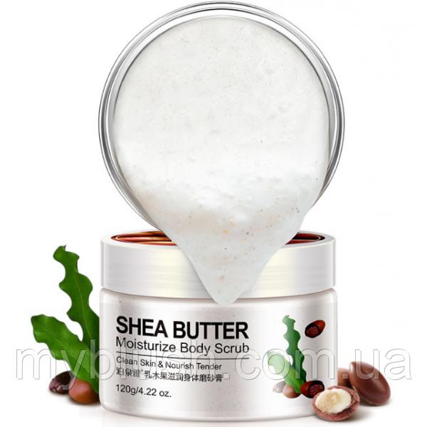 Скраб для тела с маслом Ши BioAqua Shea Butter Moisturize Body Scrub. 120 грамм