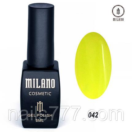 Гель-лак Milano 8 мл, № 042, фото 2