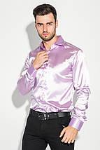Рубашка мужская шелковая с платком-паше 50PD0090 (Светло-сиреневый), фото 2
