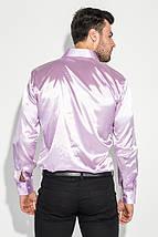 Рубашка мужская шелковая с платком-паше 50PD0090 (Светло-сиреневый), фото 3
