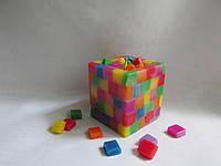 Интерьерная свеча ручной работы Радужный кубик Оригинальный подарок