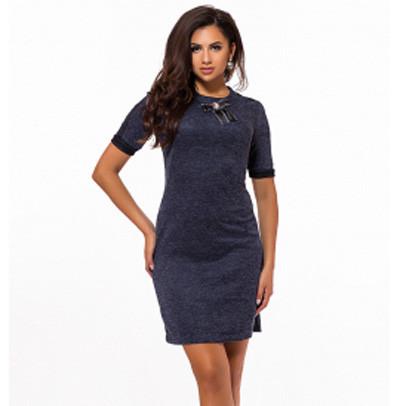 19ea3fd1b1b Купить Повседневное платье с коротким рукавом трикотаж 823800 ...