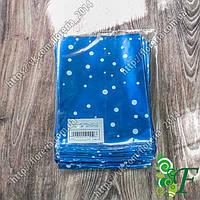 Пакетик упаковочный 10*15 с цветной металл +рисун  за 100 шт., фото 1