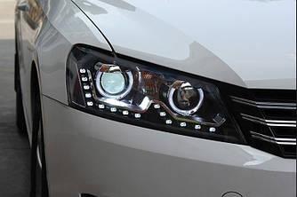 Передние фары Led тюнинг оптика Volkswagen Passat B7 USA