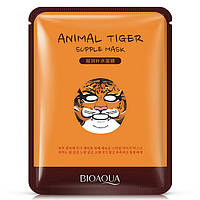 Восстанавливающая тканевая маска для лица с принтом Тигр BIOAQUA Animal Tiger Supple Mask