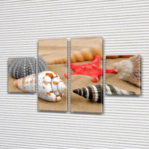 Модульные картины на кухню на Холсте, 80x130 см, (40x30-2/80х30-2)