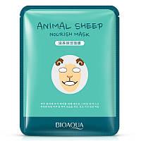 Питательная тканевая маска для лица с принтом Овечка BIOAQUA Animal Sheep Nourish Mask