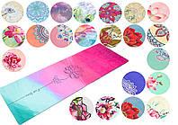 Коврик для йоги двухслойный замша + каучук 5662 (йога мат): 13 цветов, 1,83x0,61мx3мм
