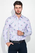 Рубашка мужская в крупный цветок 50PD626 (Светло-лиловый), фото 2