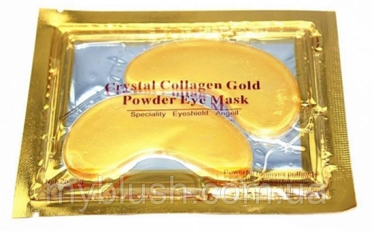"""Маска под глаза кристальный коллаген золото """"Collagen Crystal Gold Eyes Mask"""""""