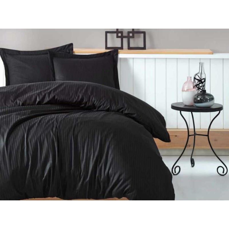 Постельное белье Страйп-сатин BLACK (Турция) ТМ Царский дом  (Семейный)
