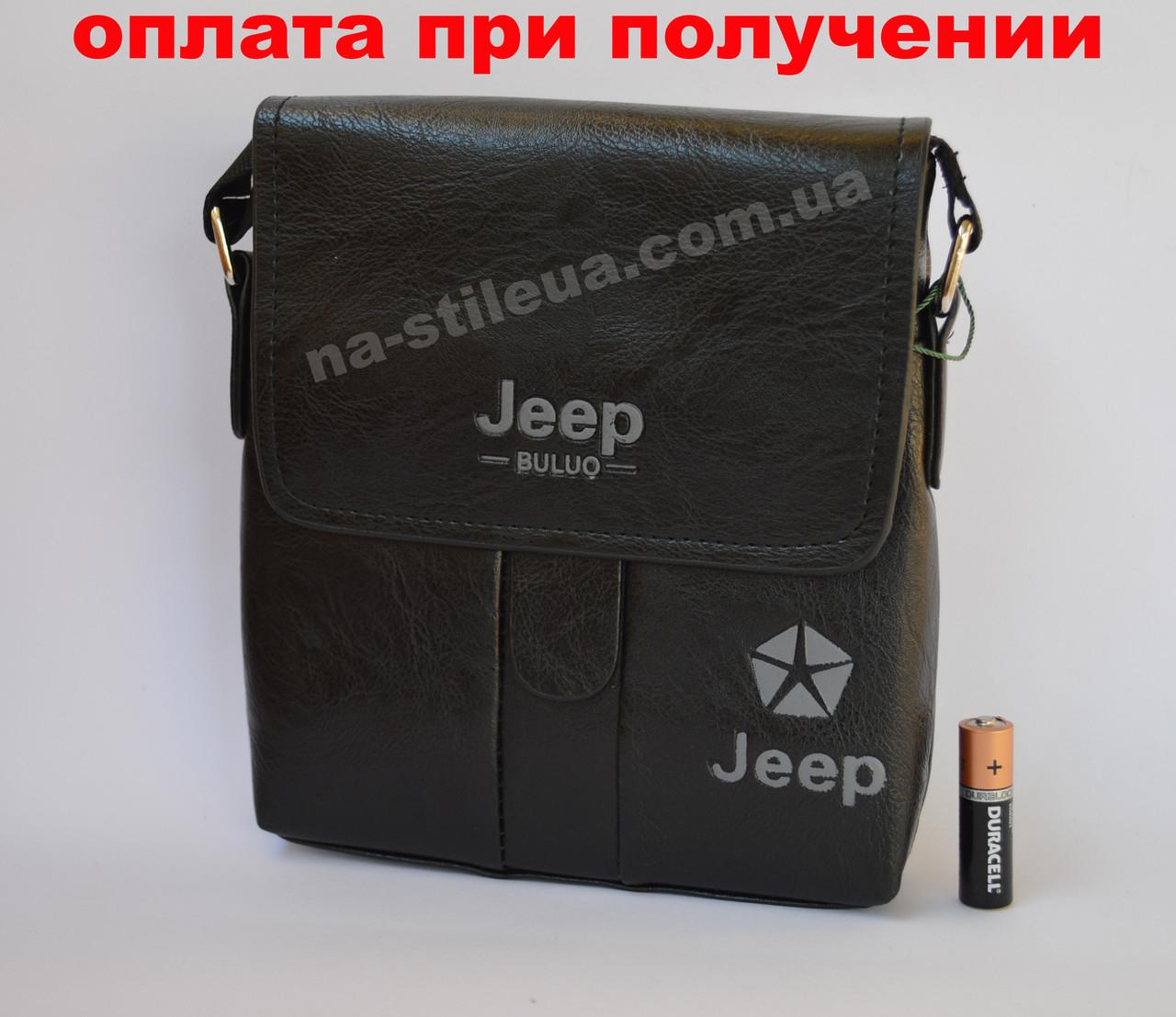 Чоловіча чоловіча шкіряна сумка барсетка через плече Jeep (Polo)