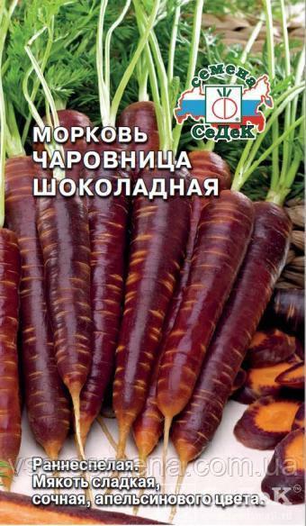 Морковь Чаровница шоколадная 0,1 г (Седек)