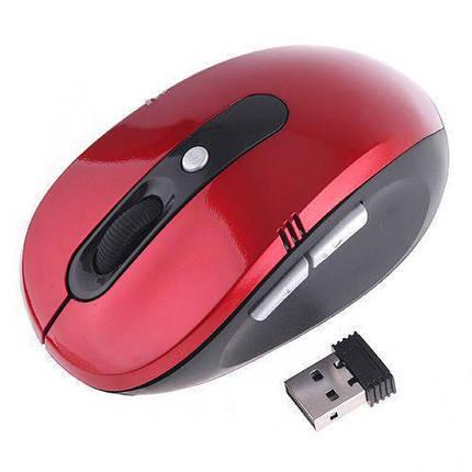 Беспроводная классическая компьютерная блютуз мышка | bluetooth mouse G108 RED, фото 2