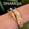 Стильное мужское золотое кольцо с черным камнем - Мужской золотой перстень с черным фианитом, фото 6