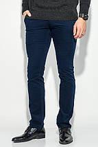 Брюки мужские стильные, приятный материал 08P130 (Темно-синий), фото 2
