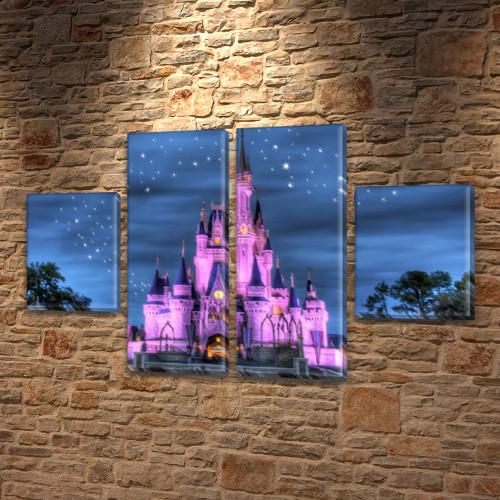 Модульная триптих картина Королевский дворец  80x130 см, (40x30-2/80х30-2)