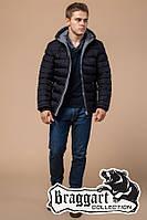 Мужская теплая зимняя куртка с капюшоном (р. 46-56) арт. 15181Т сине-черный