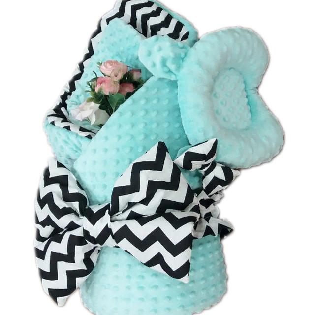 Комплект: гнездышко + плед + ортопедическая подушка