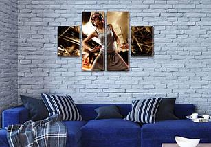 Модульная картина В ритме танца  на Холсте, 80x130 см, (40x30-2/80х30-2), фото 3
