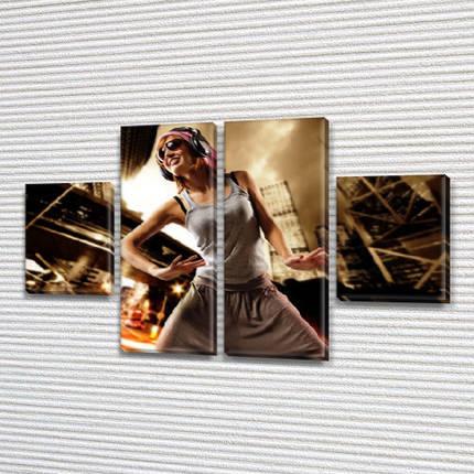 Модульная картина В ритме танца  на Холсте, 80x130 см, (40x30-2/80х30-2), фото 2