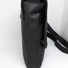 Мужская кожаная брендовая сумка барсетка через плечо сумочка чоловіча купить шкіряна на плече месенджер для до, фото 2
