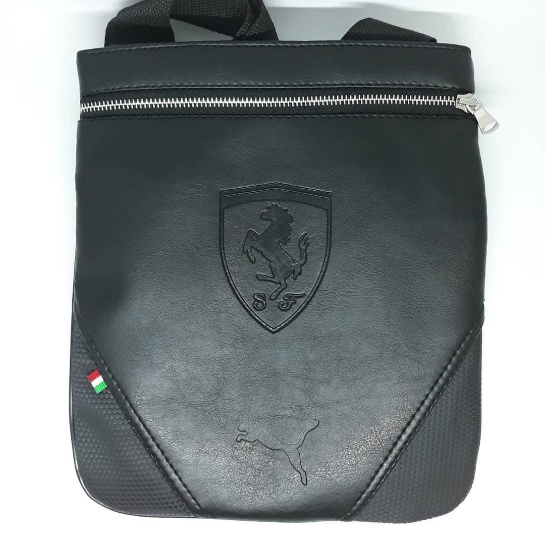 Сумка чоловіча мужская кожаная шкіряна через на плечо барсетка Ferrari сумка мужская через плечо месенджер!