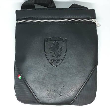 Сумка чоловіча мужская кожаная шкіряна через на плечо барсетка Ferrari сумка мужская через плечо месенджер! , фото 2