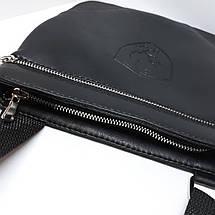 Сумка чоловіча мужская кожаная шкіряна через на плечо барсетка Ferrari сумка мужская через плечо месенджер! , фото 3