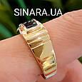 Мужское кольцо из лимонного золота с ониксом - Мужское кольцо с ониксом желтое золото, фото 5