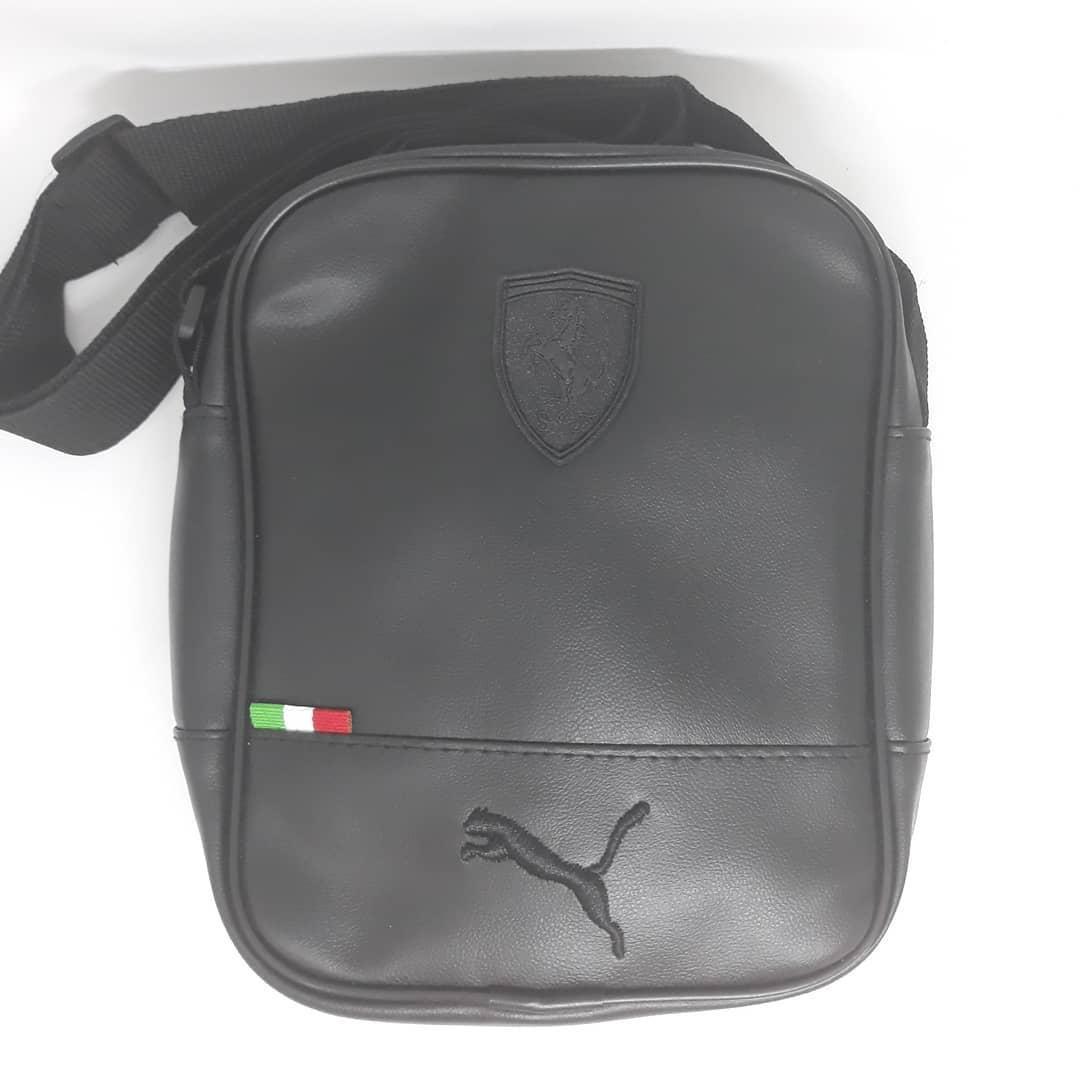 Сумка чоловіча мужская кожаная шкіряна через на плечо барсетка Ferrari puma сумка мужская плече месенджер!
