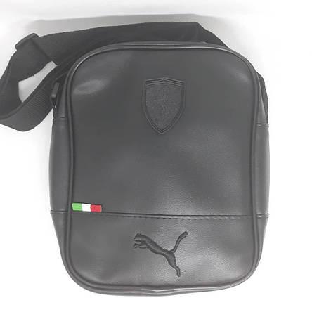 Сумка чоловіча мужская кожаная шкіряна через на плечо барсетка Ferrari puma сумка мужская плече месенджер!, фото 2