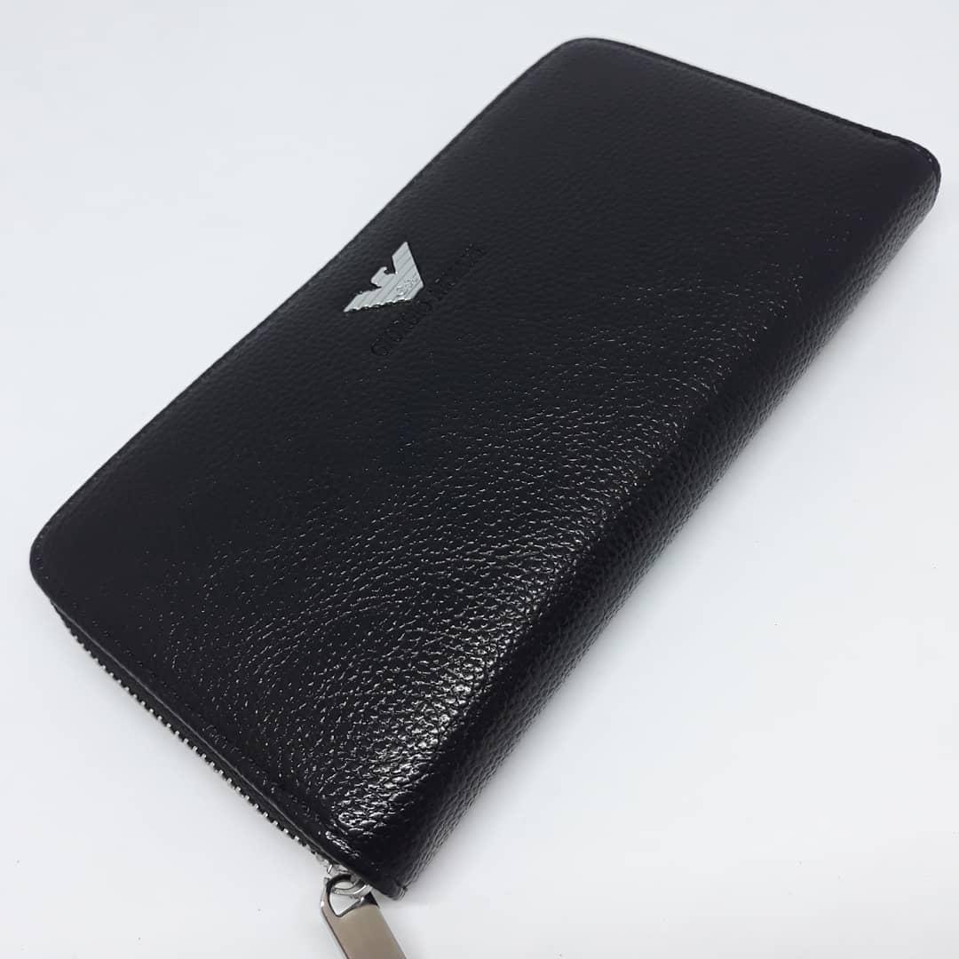 Стильный мужской бумажник (портмоне, кошелек, клатч) с гербом