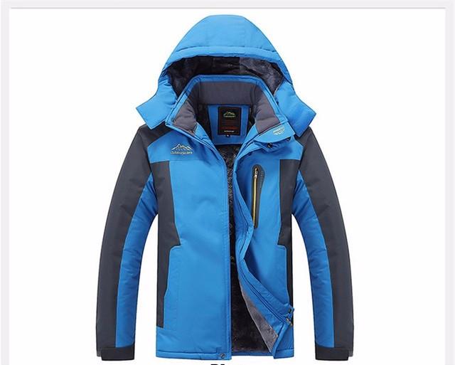Чоловіча зимова вітро-вологозахисна куртка парку синя р. 48-50.