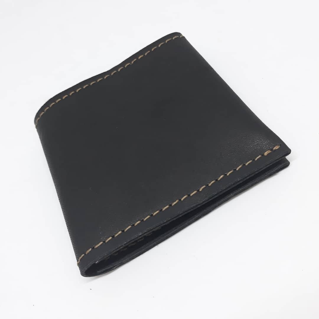 Портмоне клатч бумажник кошелек мужской кожаный. Гаманець шкіряний чорний