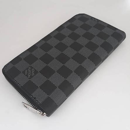 Портмоне клатч бумажник кошелек мужской кожаный. Гаманець шкіряний чорний, фото 2
