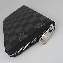 Портмоне клатч бумажник кошелек мужской кожаный. Гаманець шкіряний чорний, фото 3