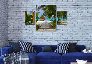 Модульные картины на кухню на Холсте, 80x130 см, (40x30-2/80х30-2), фото 3
