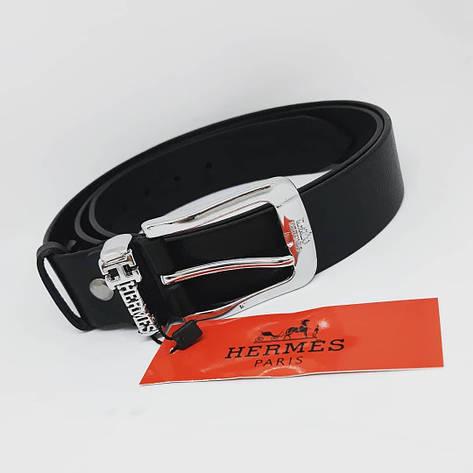Мужской кожаный ремень чоловічий ремінь шкіряний Gucci Givenchy Hermes Louis Vuitton пояс , фото 2